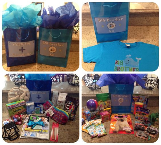 Best ideas about Big Brother Gift Ideas From New Baby . Save or Pin Hospital Survival Kit and Big Brother Kit for the big day Now.