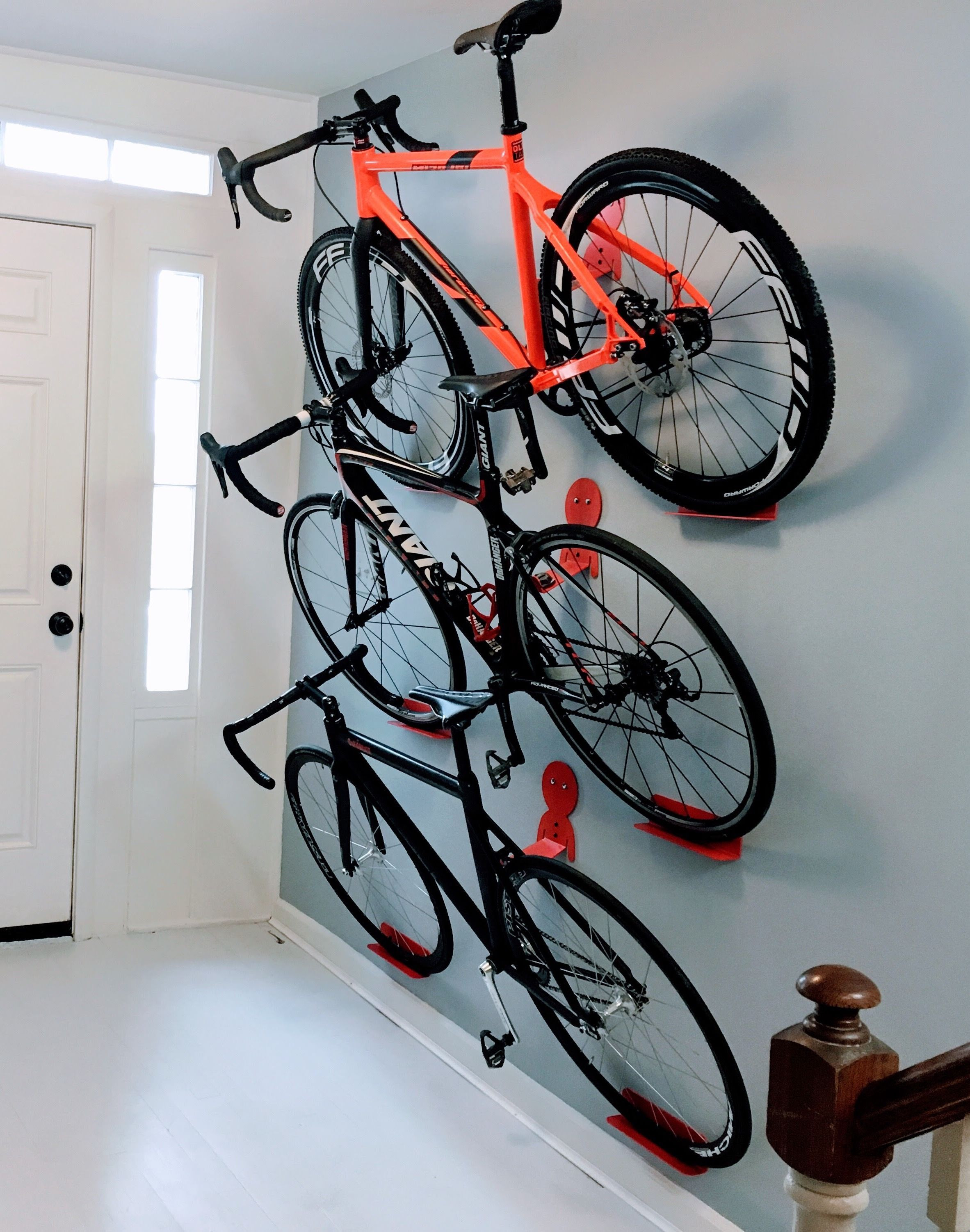 Best ideas about Bike Wall Mount DIY . Save or Pin Multiple bikes hanging rack system DaHANGER Dan pedal Now.