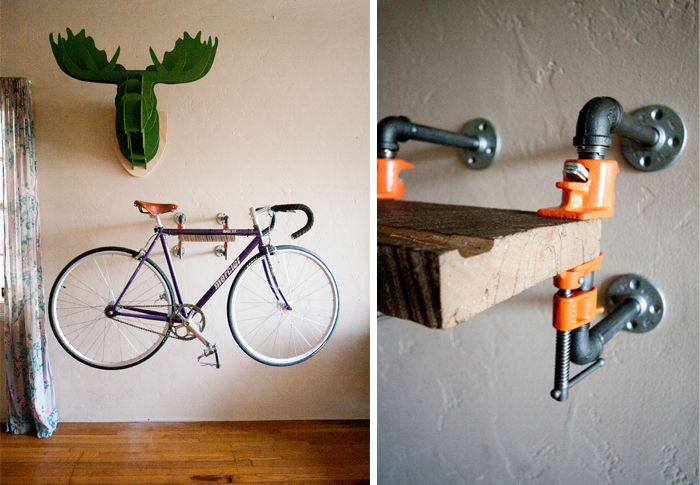 Best ideas about Bike Wall Mount DIY . Save or Pin Apparently I have a thing for wall mounted bike racks Now.