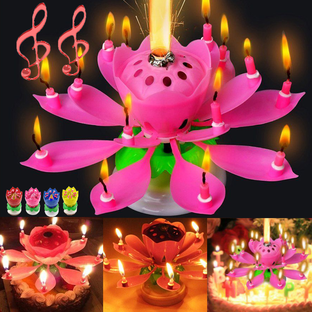 Best ideas about Birthday Cake Candles . Save or Pin Rotating Musical Decoration Blossom Birthday Candle Cake Now.