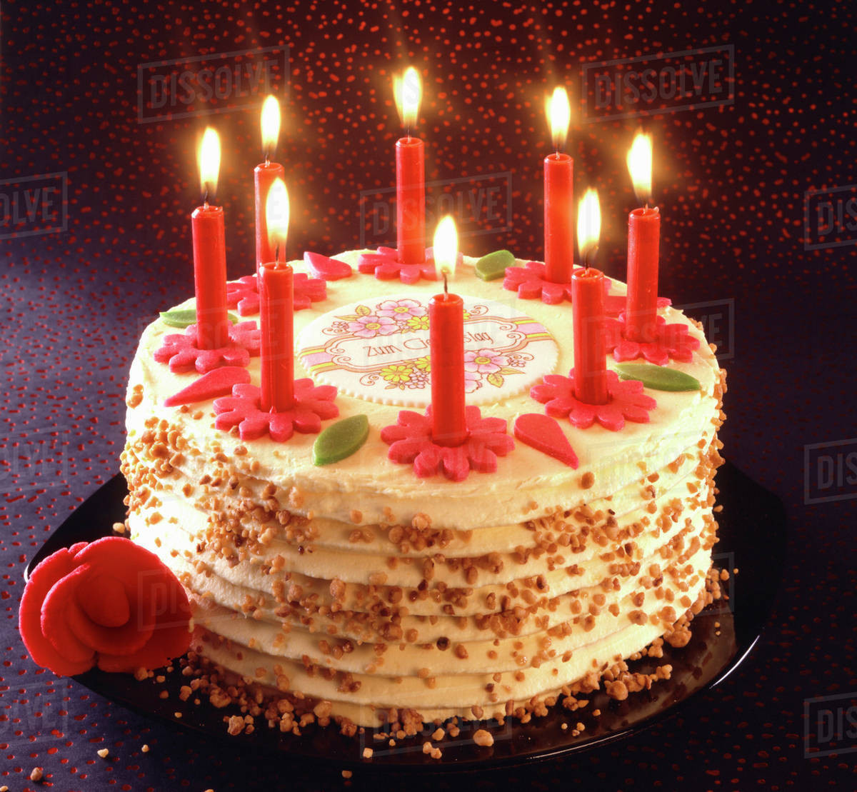 Best ideas about Birthday Cake Candles . Save or Pin Birthday cake with burning candles Stock Dissolve Now.