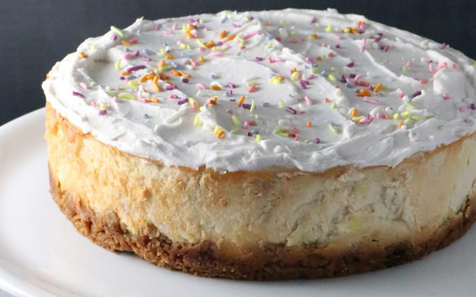 Best ideas about Birthday Cake Cheesecake . Save or Pin Birthday Cake Cheesecake With Sugar Cone Crust [Vegan Now.