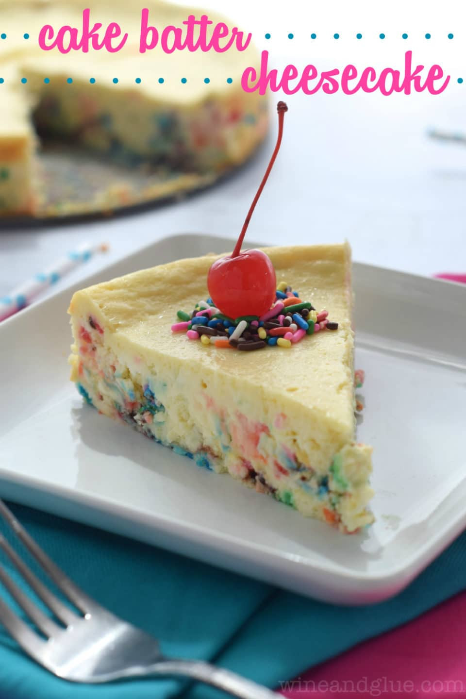 Best ideas about Birthday Cake Cheesecake . Save or Pin No Bake Funfetti Cheesecake Cups Wine & Glue Now.