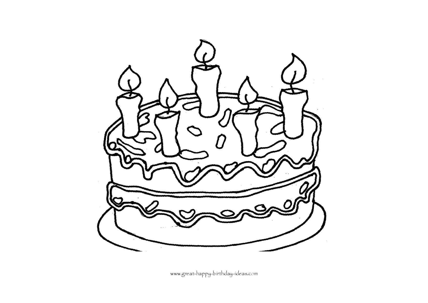 Best ideas about Birthday Cake Coloring Pages . Save or Pin Printable Birthday Coloring Pages Now.
