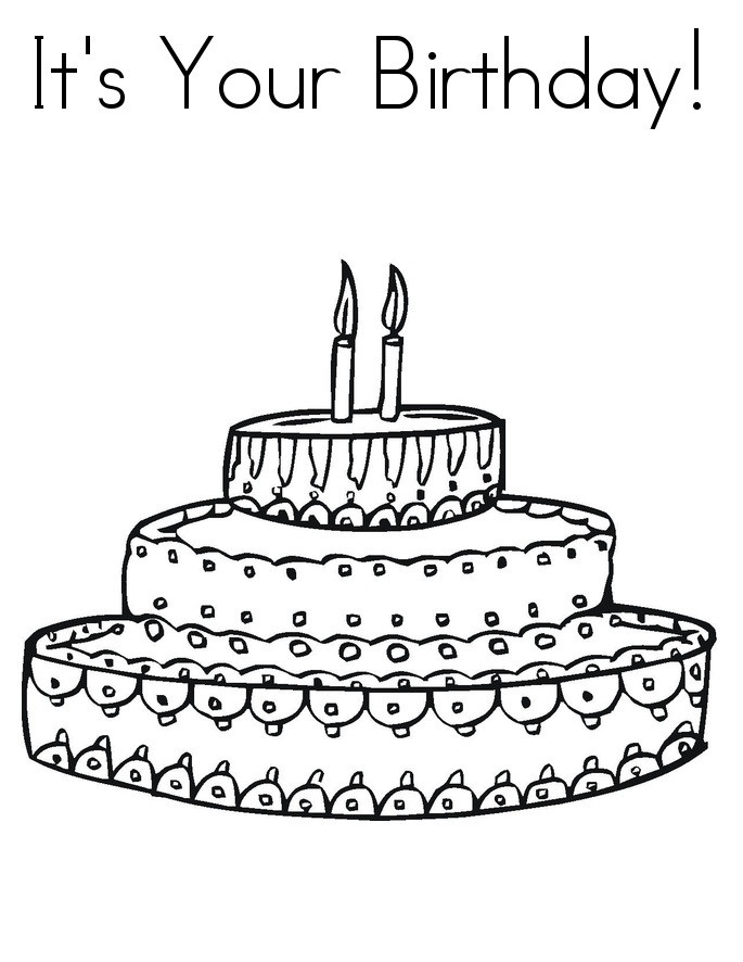 Best ideas about Birthday Cake Coloring Pages . Save or Pin Free Printable Birthday Cake Coloring Pages For Kids Now.