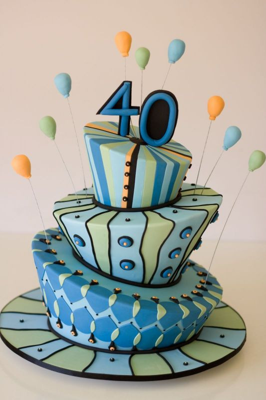 Best ideas about Birthday Cake Designs For Him . Save or Pin 40th birthday cake ideas Now.