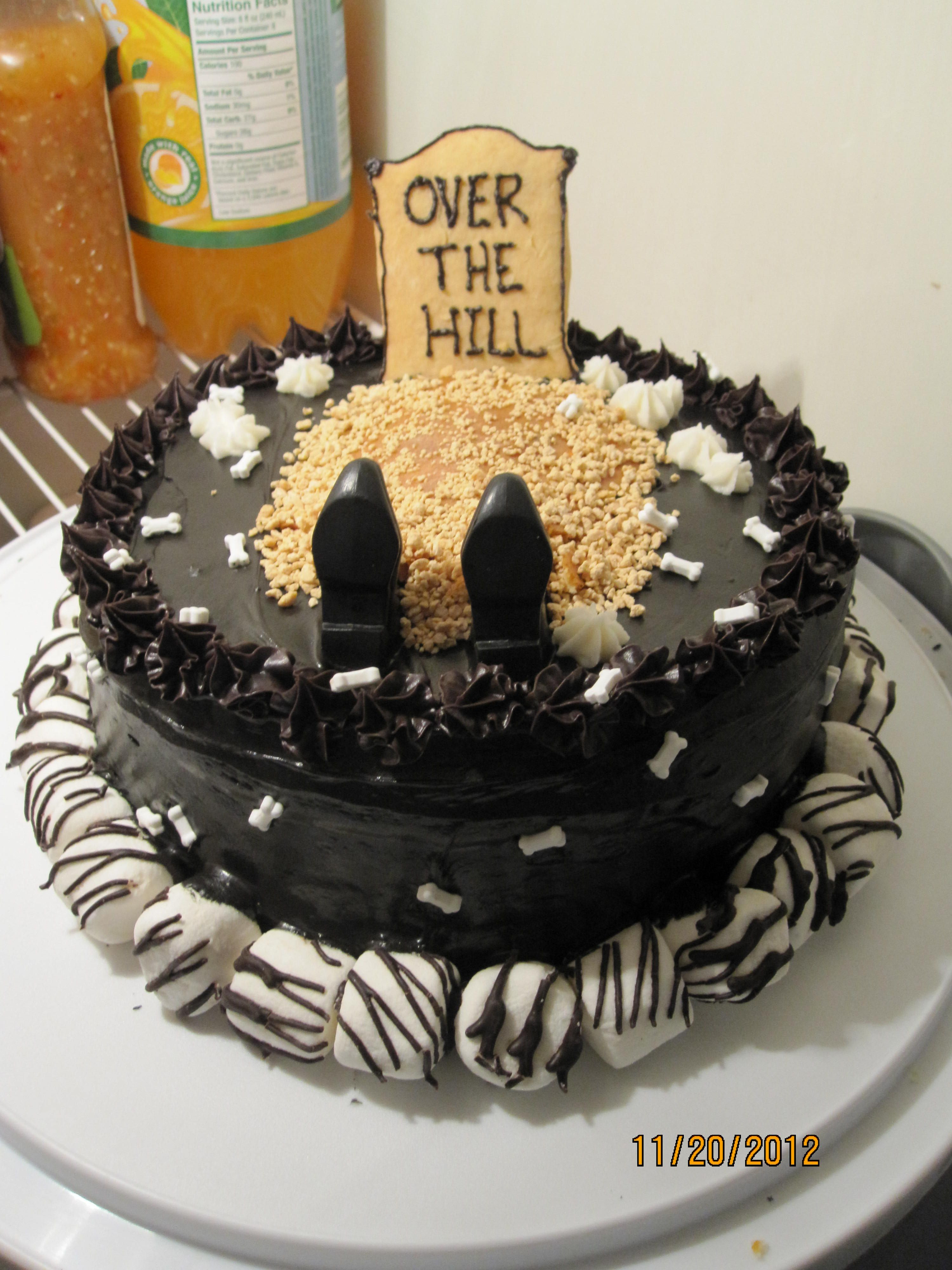 Best ideas about Birthday Cake Designs For Him . Save or Pin Over the hill cake i made My things Now.