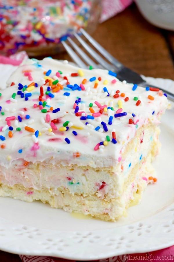 Best ideas about Birthday Cake Flavor . Save or Pin No Bake Birthday Cake Lasagna Wine & Glue Now.