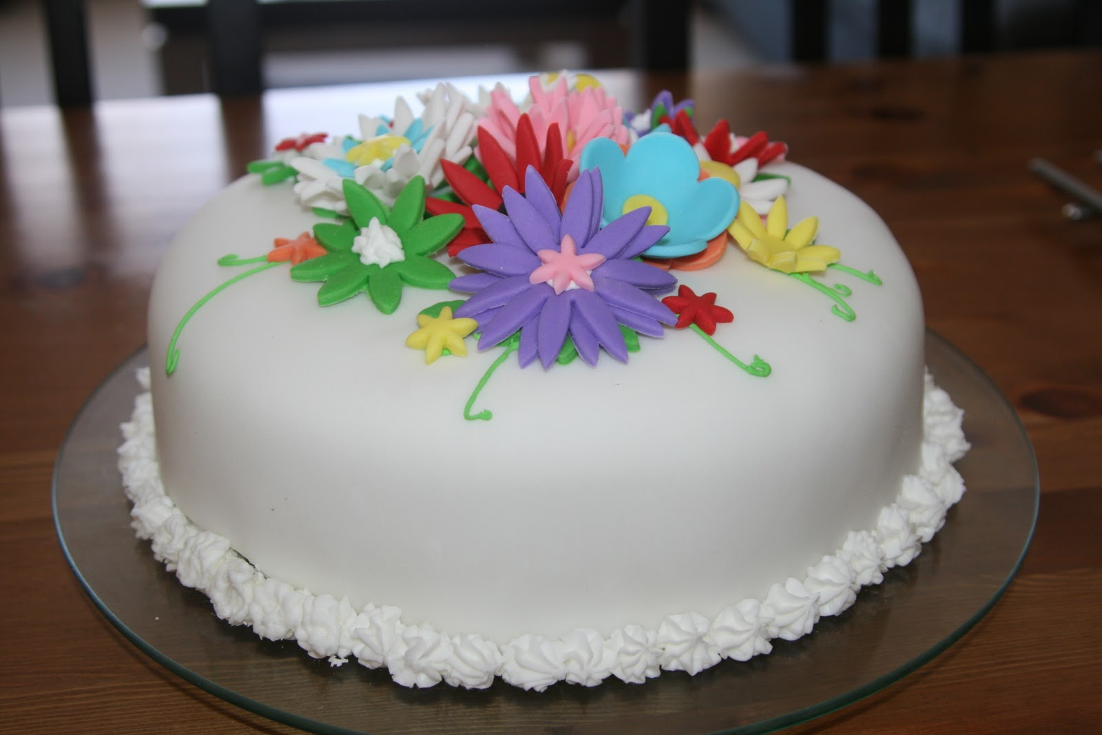 Best ideas about Birthday Cake Flowers . Save or Pin For the Fun of Cooking Flower Birthday Cake Now.