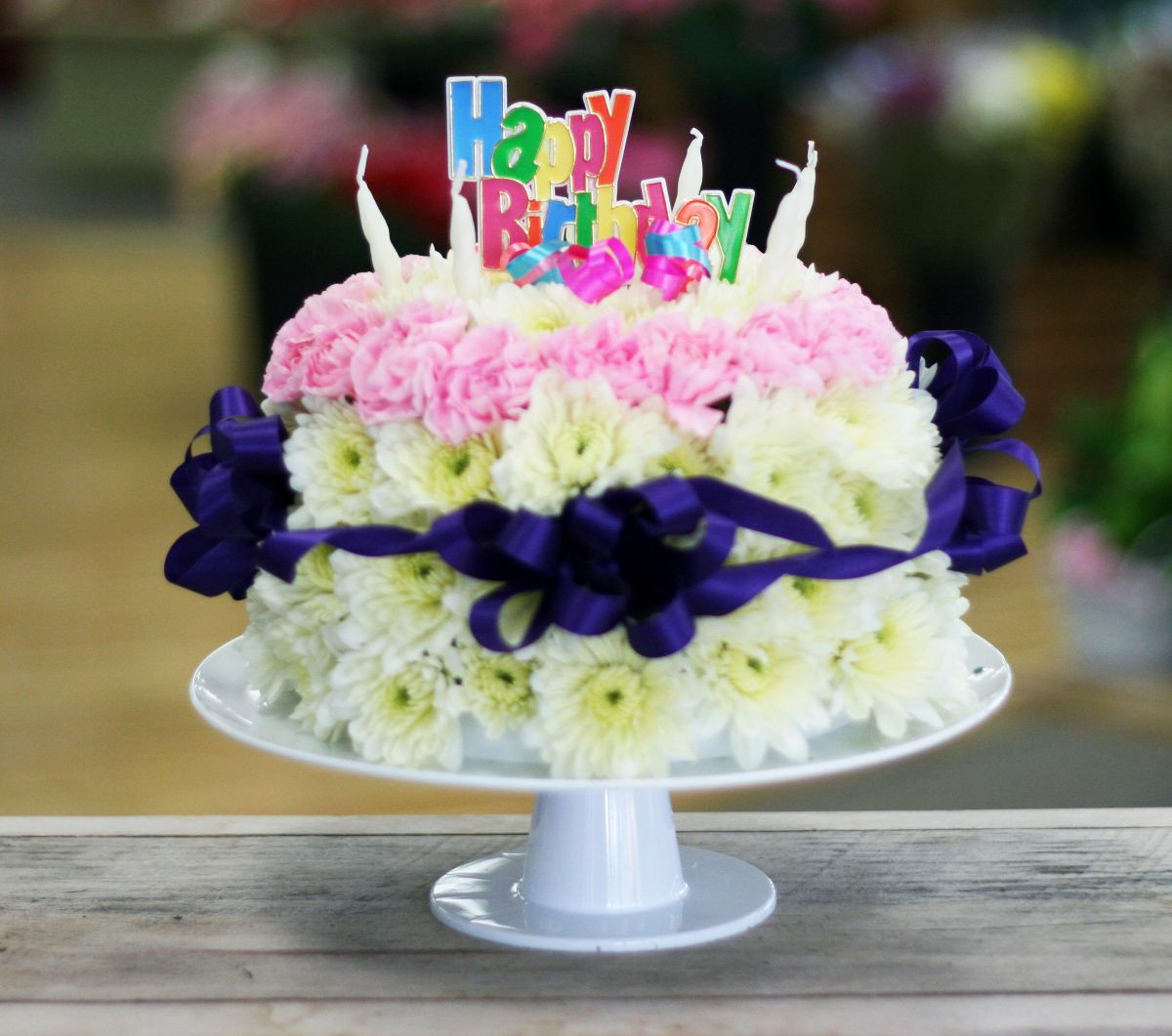 Best ideas about Birthday Cake Flowers . Save or Pin 35 Awesome birthday flowers and cake images Now.