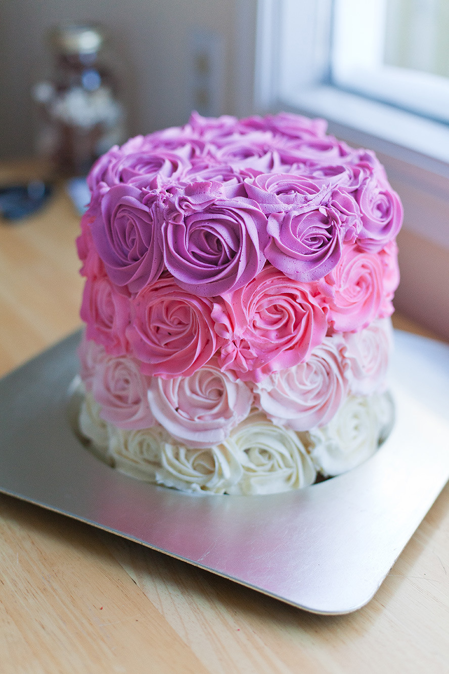 Best ideas about Birthday Cake Flowers . Save or Pin How to Make a Pink Ombre Rose Cake Now.