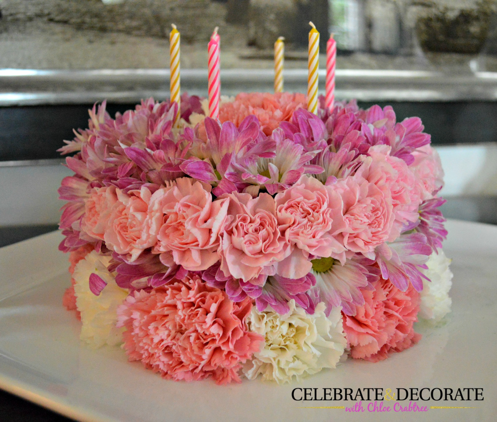 Best ideas about Birthday Cake Flowers . Save or Pin How to Make a Floral Birthday Cake Celebrate & Decorate Now.