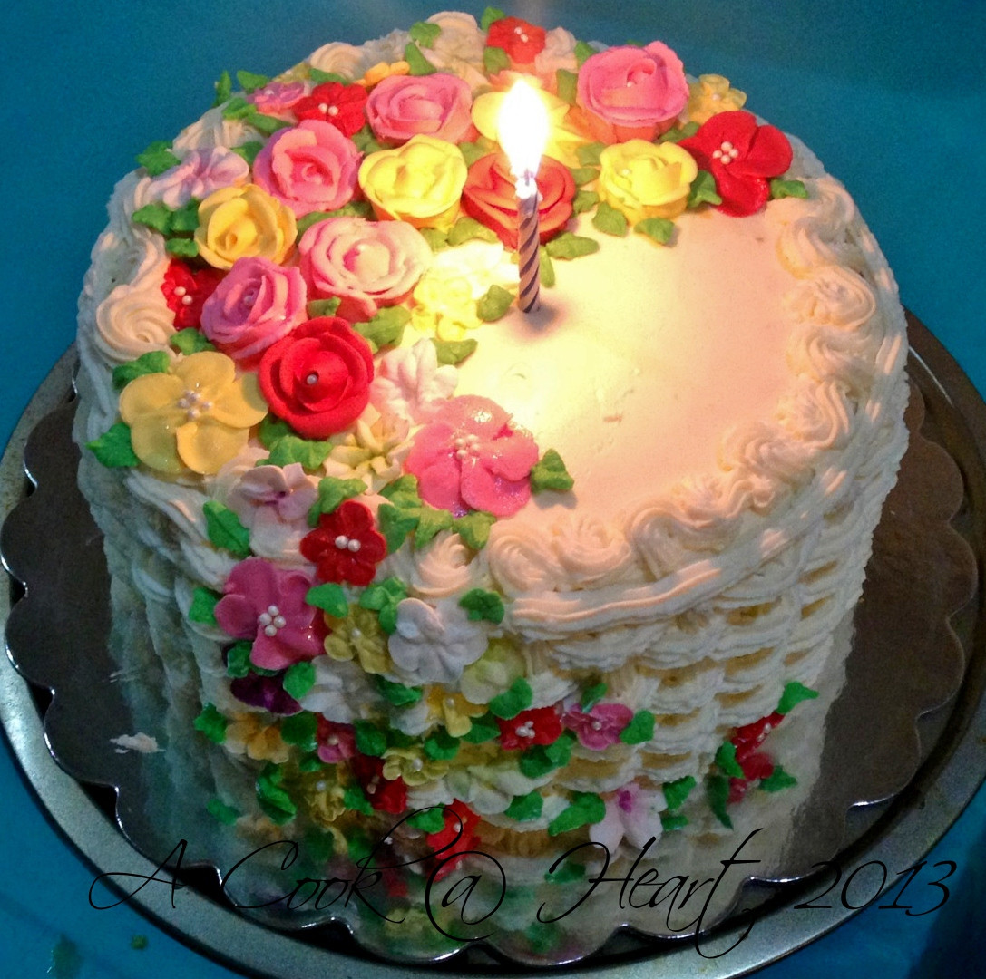 Best ideas about Birthday Cake Flowers . Save or Pin A Cook Heart A basket cake of flowers Now.