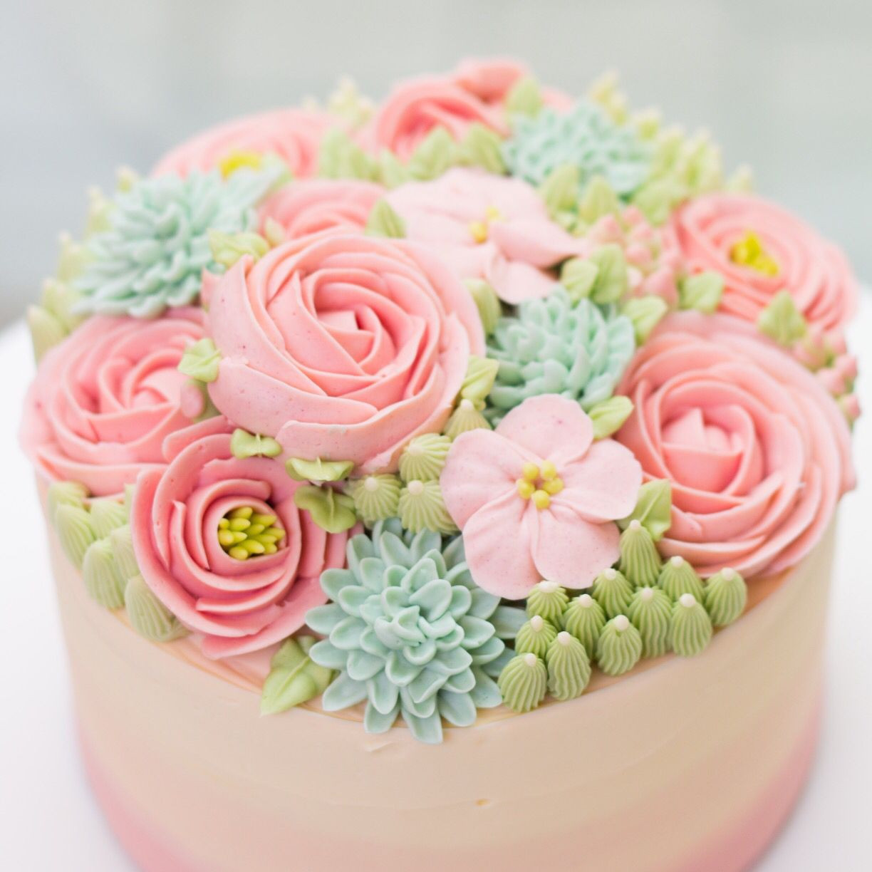 Best ideas about Birthday Cake Flowers . Save or Pin So pretty Buttercream Flowers so delicate on a cake Now.