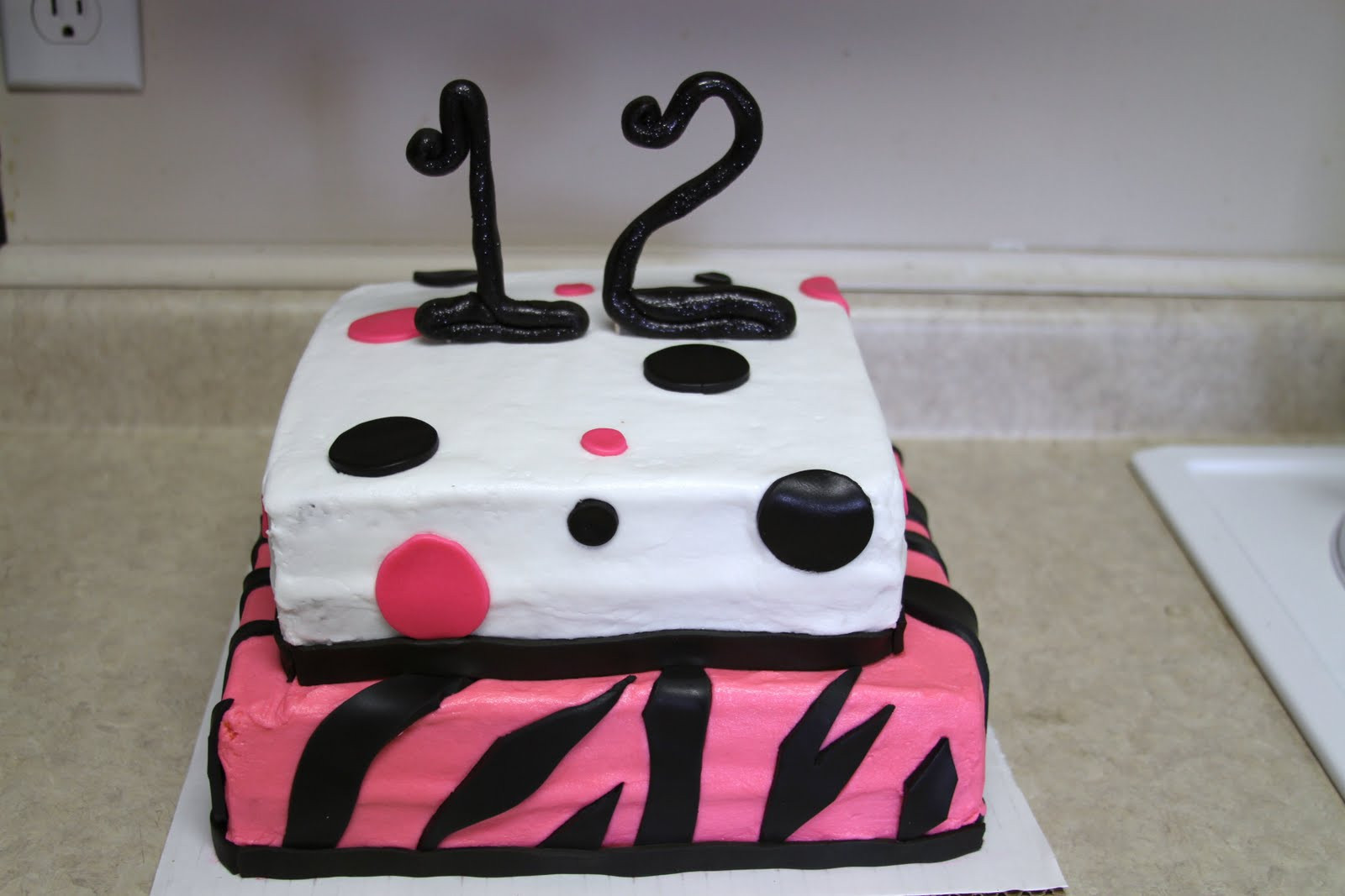 Best ideas about Birthday Cake For 12 Years Old Girl . Save or Pin Michele Robinson Cakes Zebra Poka Dot 12th Birthday Cake Now.
