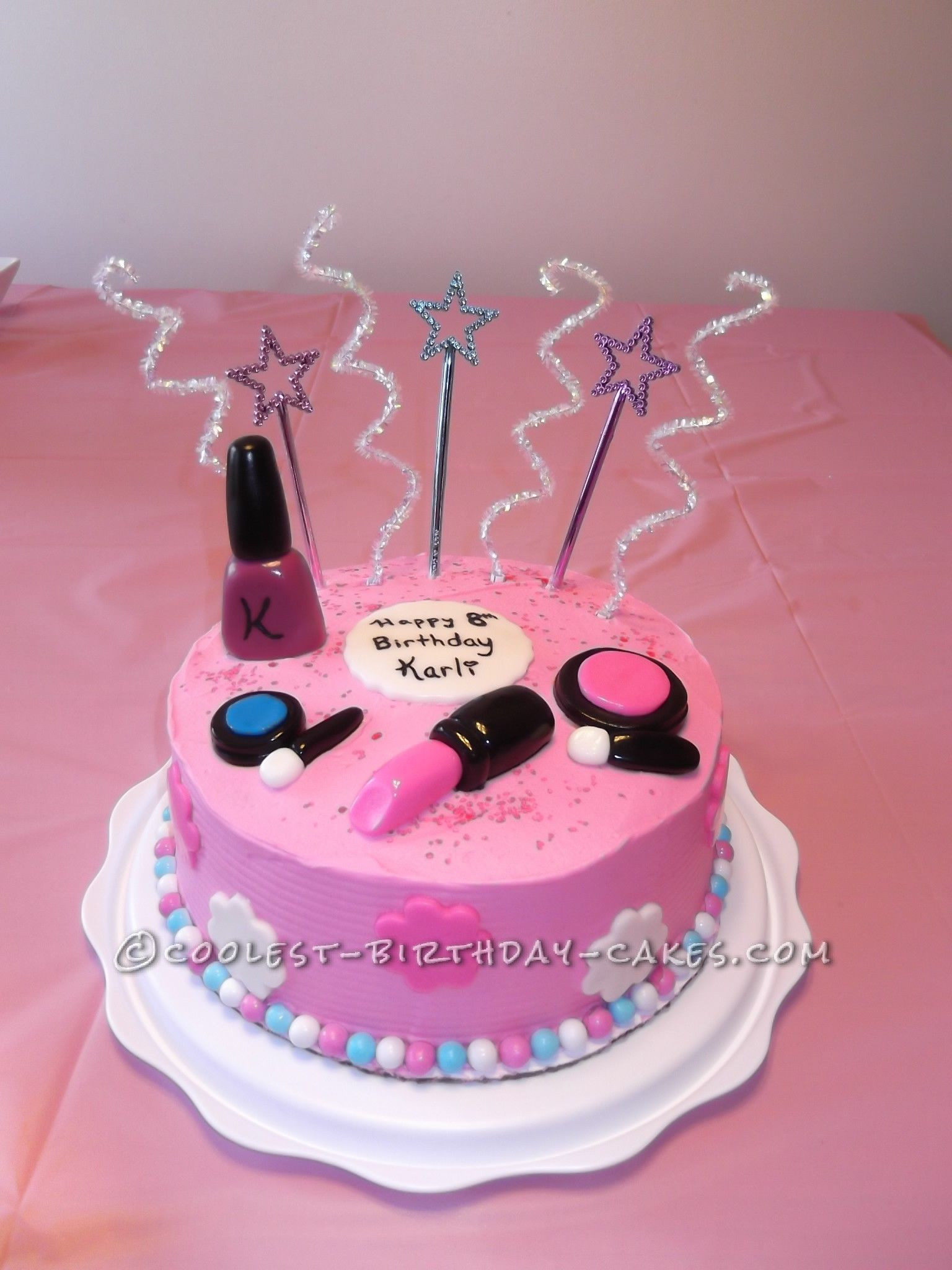 Best ideas about Birthday Cake For 12 Years Old Girl . Save or Pin Sweet Makeup Cake For An 8 Year Old Girl Now.