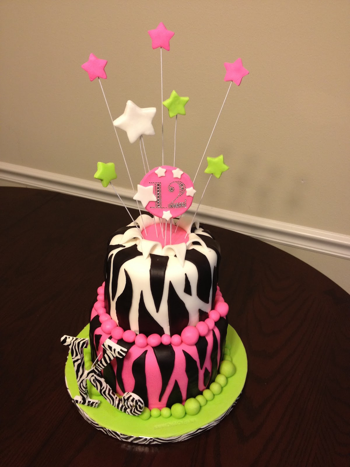 Best ideas about Birthday Cake For 12 Years Old Girl . Save or Pin CrabbCakes 12 year old girl s zebra theme birthday cake Now.