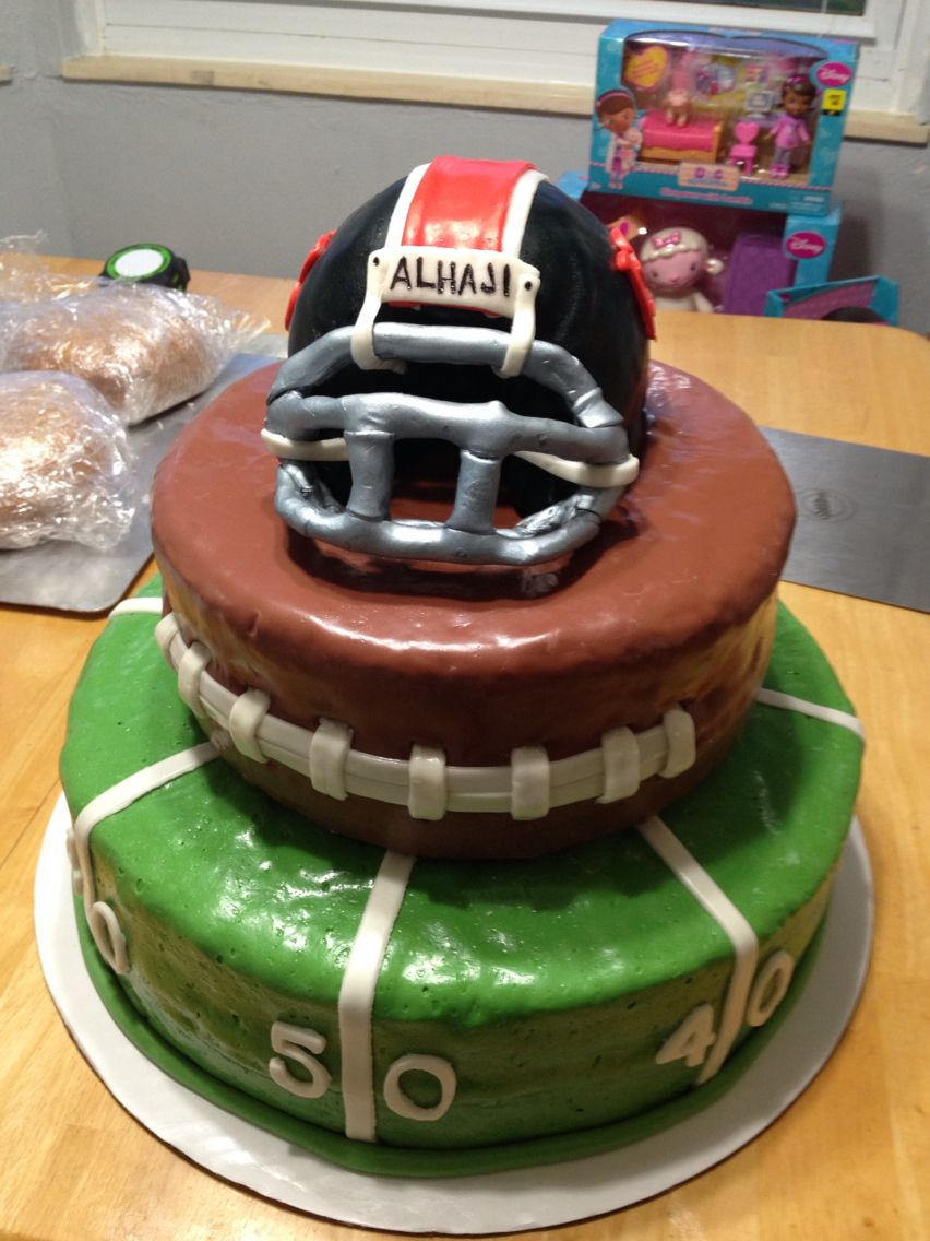 Best ideas about Birthday Cake For 13 Year Old Boy . Save or Pin Fun football birthday cake for a 13 year old boy Now.
