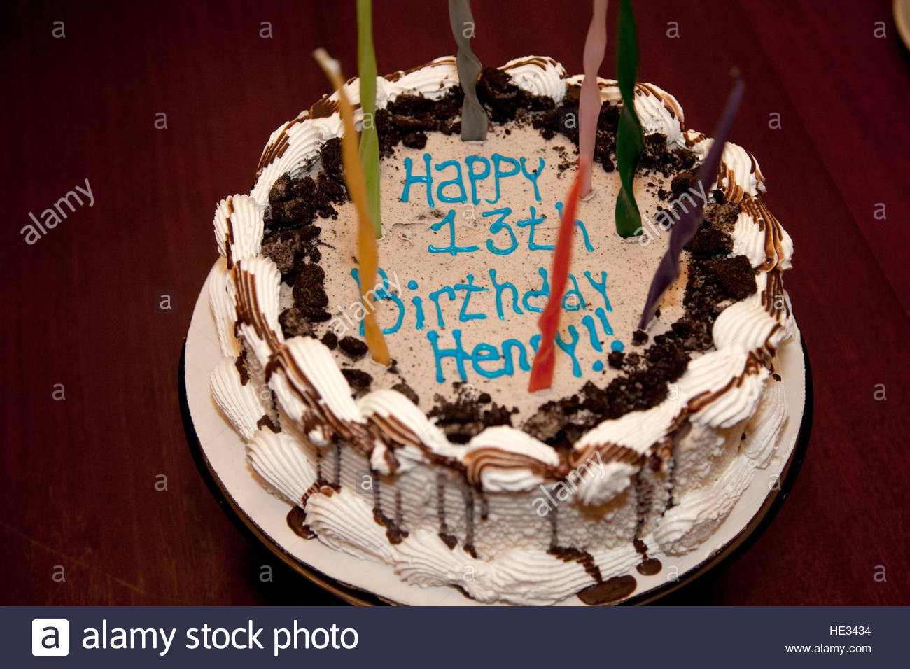 Best ideas about Birthday Cake For 13 Year Old Boy . Save or Pin Decorative happy birthday cake with candles for a 13 year Now.