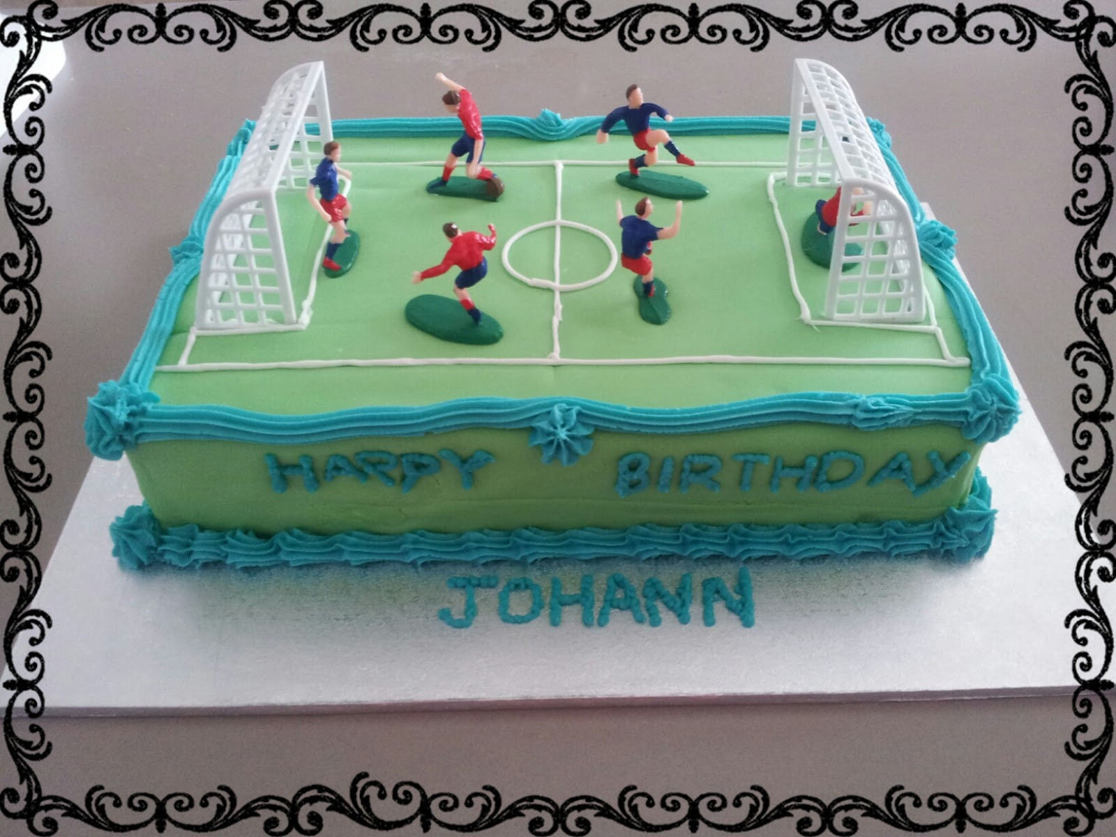 Best ideas about Birthday Cake For 13 Year Old Boy . Save or Pin Lucy s Delicious Cakes Soccer Field Birthday Cake Now.