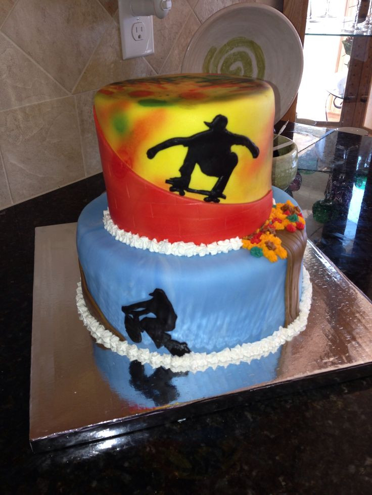 Best ideas about Birthday Cake For 13 Year Old Boy . Save or Pin Skateboarding BMX grafitti cake for a 13 year olds Now.