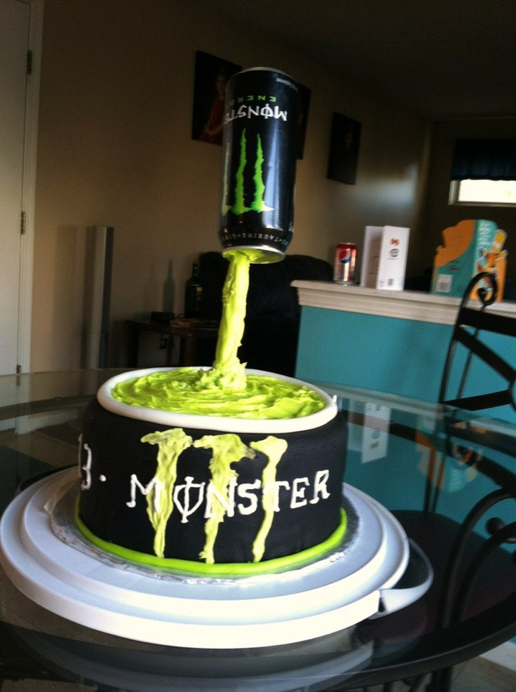 Best ideas about Birthday Cake For 13 Year Old Boy . Save or Pin Monster Birthday Cake for 13 year old Now.