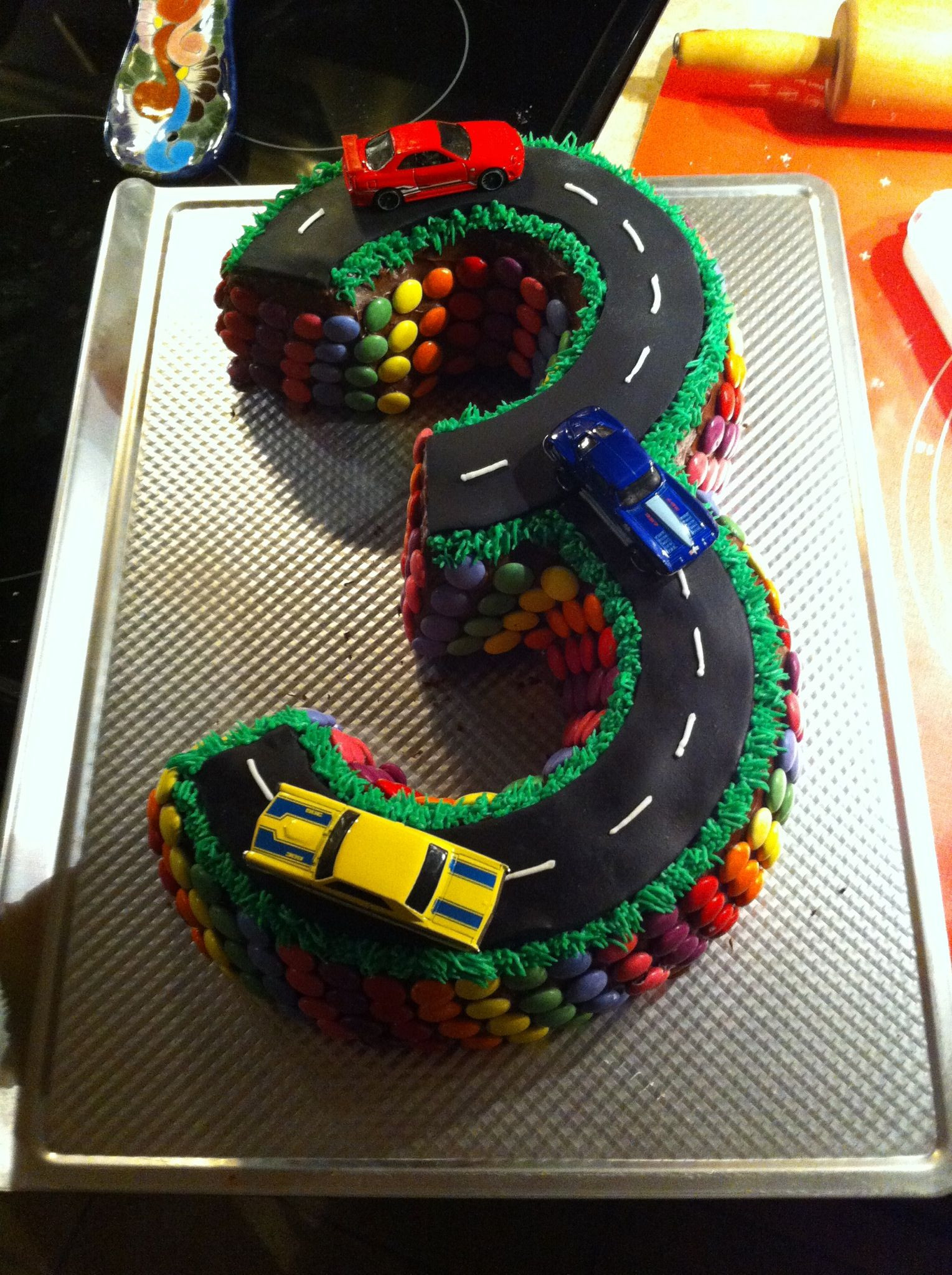 Best ideas about Birthday Cake For 3 Year Old Boy . Save or Pin 3 year old boy birthday cake if anyone wants to make this Now.