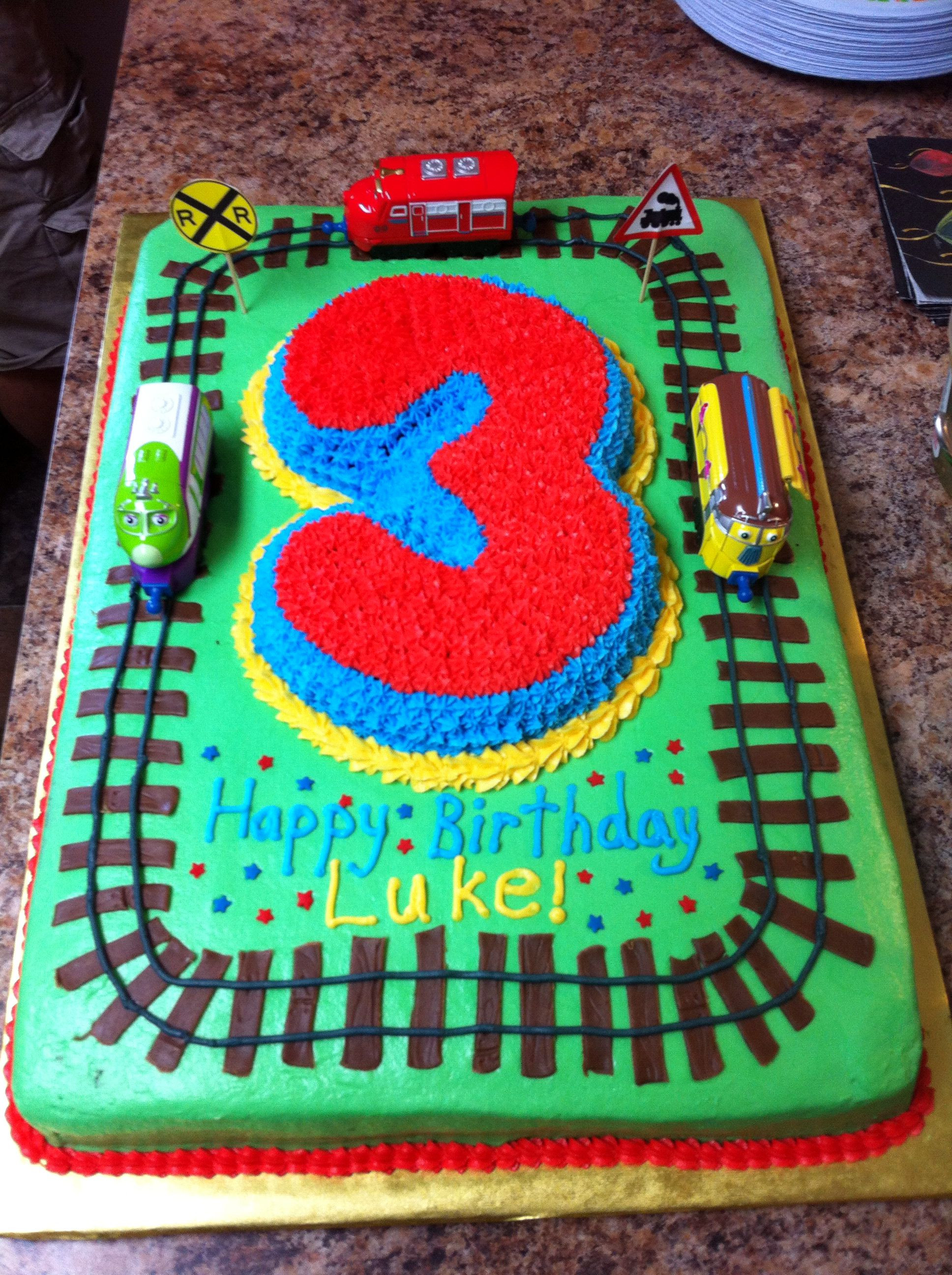 Best ideas about Birthday Cake For 3 Year Old Boy . Save or Pin 3 year old Chuggington cake Megan something similar to Now.