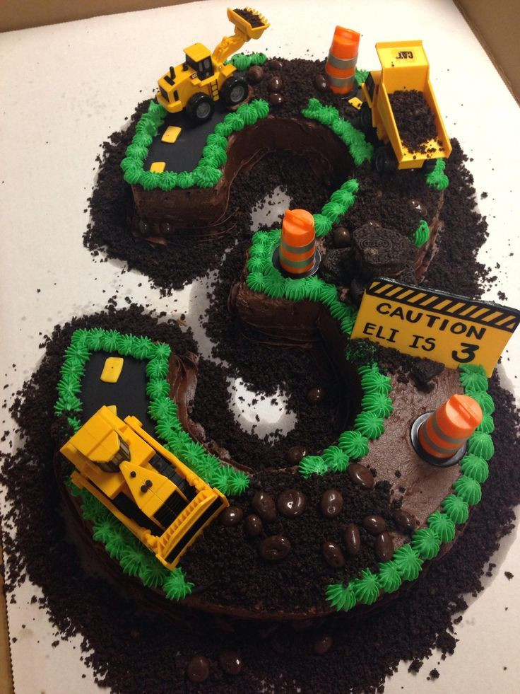 Best ideas about Birthday Cake For 3 Year Old Boy . Save or Pin Construction Site Cake in 2019 Now.
