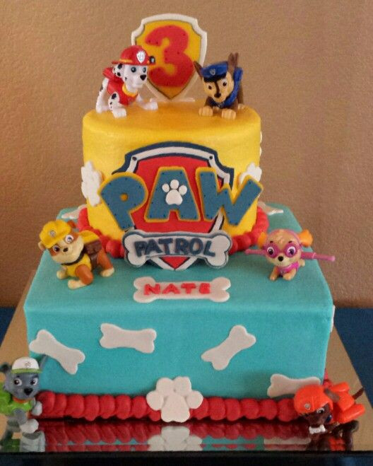 Best ideas about Birthday Cake For 3 Year Old Boy . Save or Pin Paw Patrol cake for my 3 year old nephew Rubble is his Now.