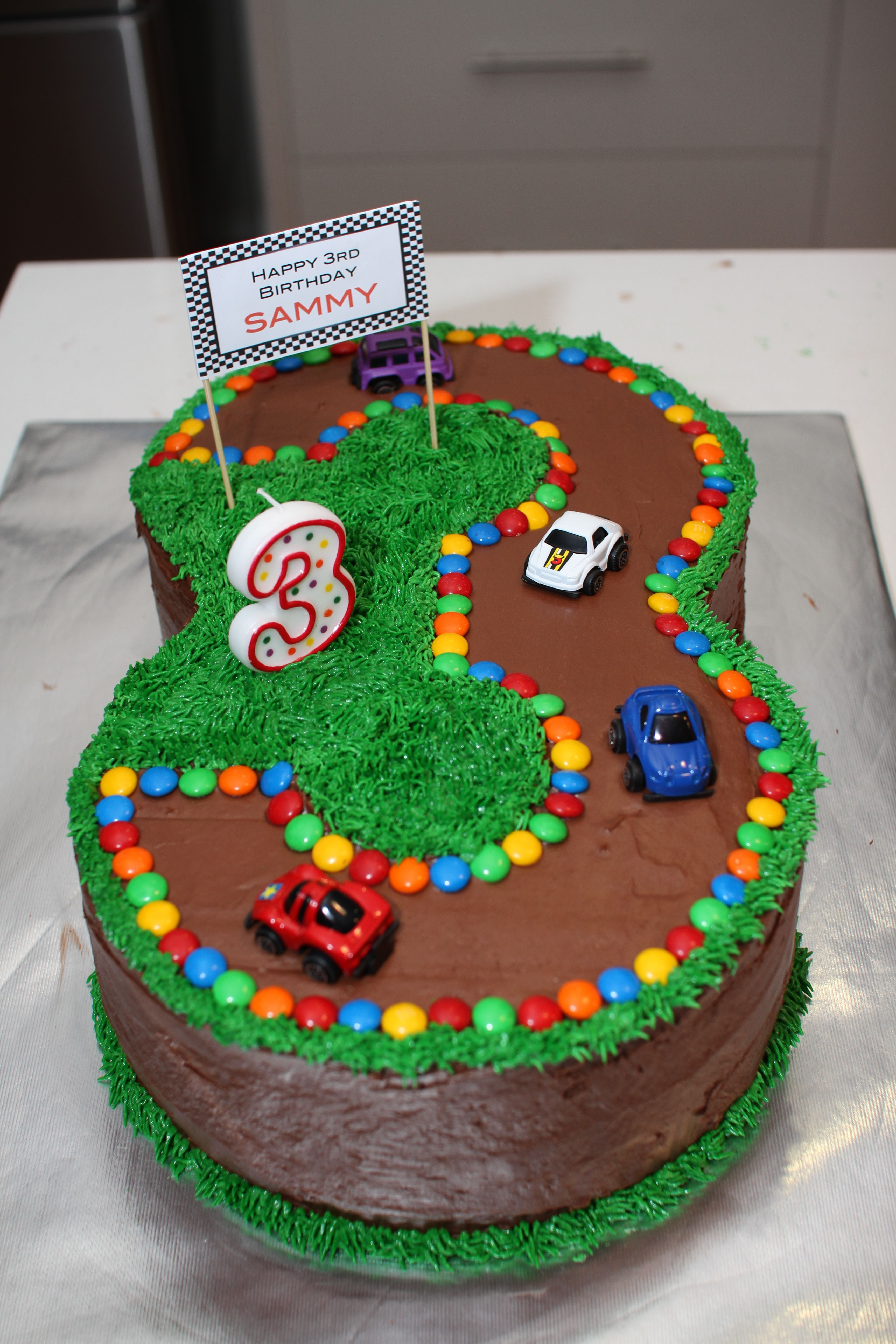 Best ideas about Birthday Cake For 3 Year Old Boy . Save or Pin No 3 Race Track Cake for 3rd Birthday … Now.