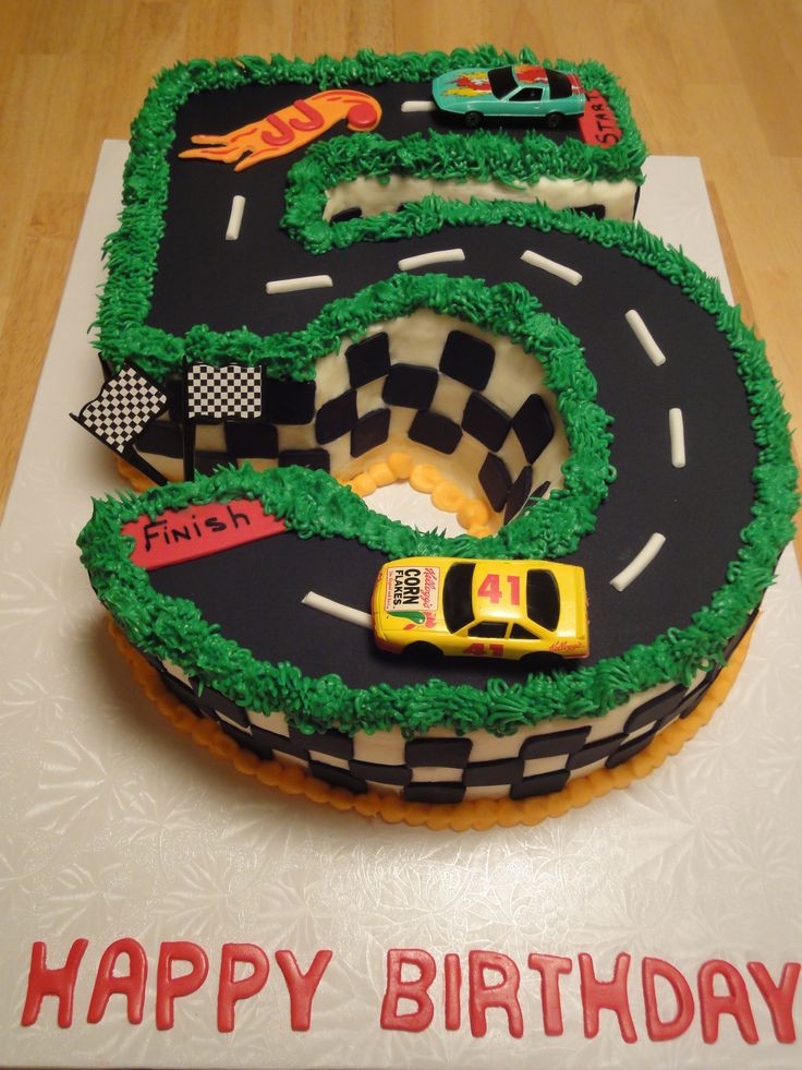 Best ideas about Birthday Cake For 3 Year Old Boy . Save or Pin Happy Birthday to a 5 year old boy Hot wheels cake Now.