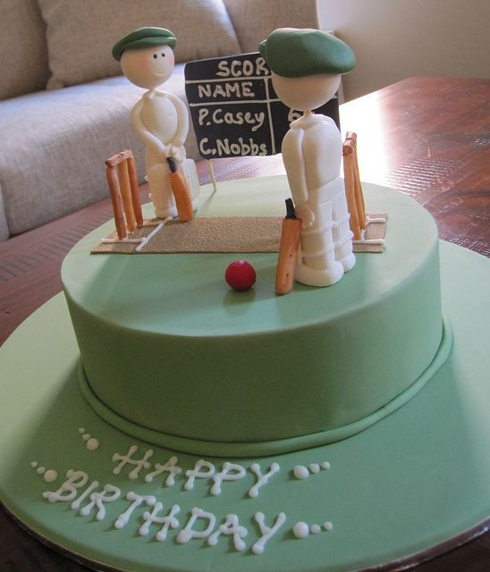 Best ideas about Birthday Cake For Husband . Save or Pin Husbands birthday cake idea Cricket themed birthday cake Now.