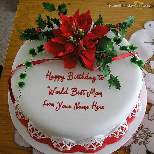Best ideas about Birthday Cake For Mother . Save or Pin Flower Birthday Cake For Mother With Name Now.
