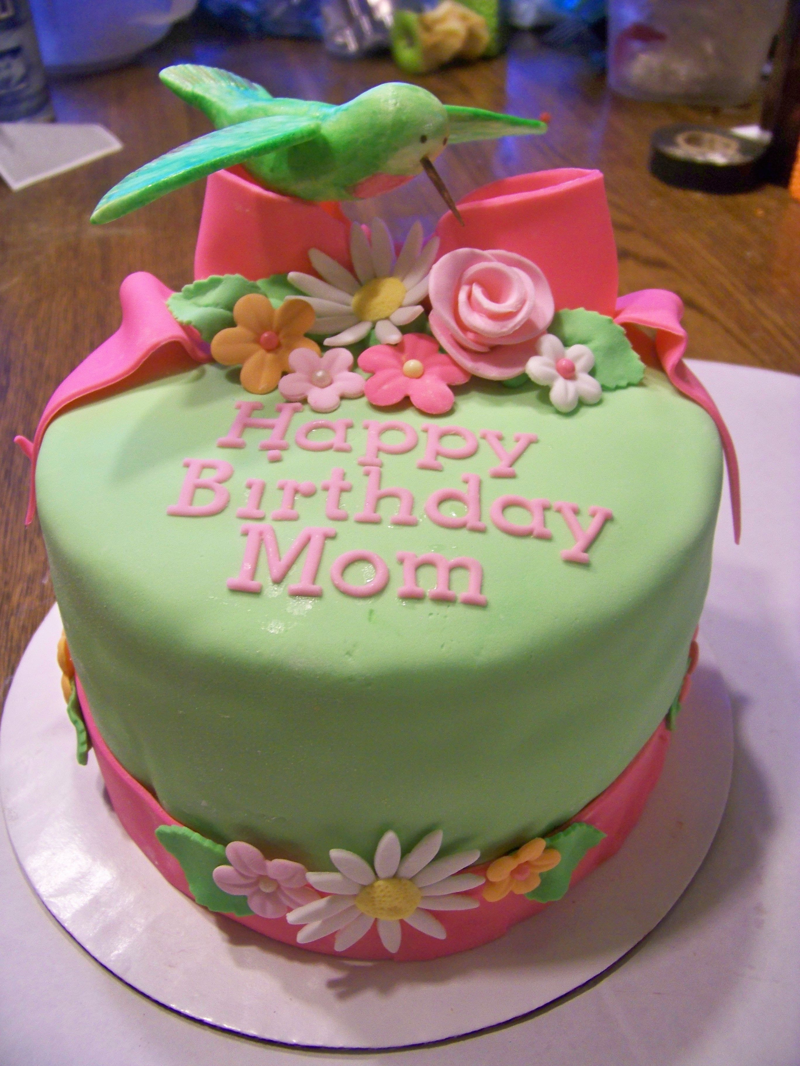 Best ideas about Birthday Cake For Mother . Save or Pin Hummingbird Birthday Cake Hummingbird made of fondant Now.