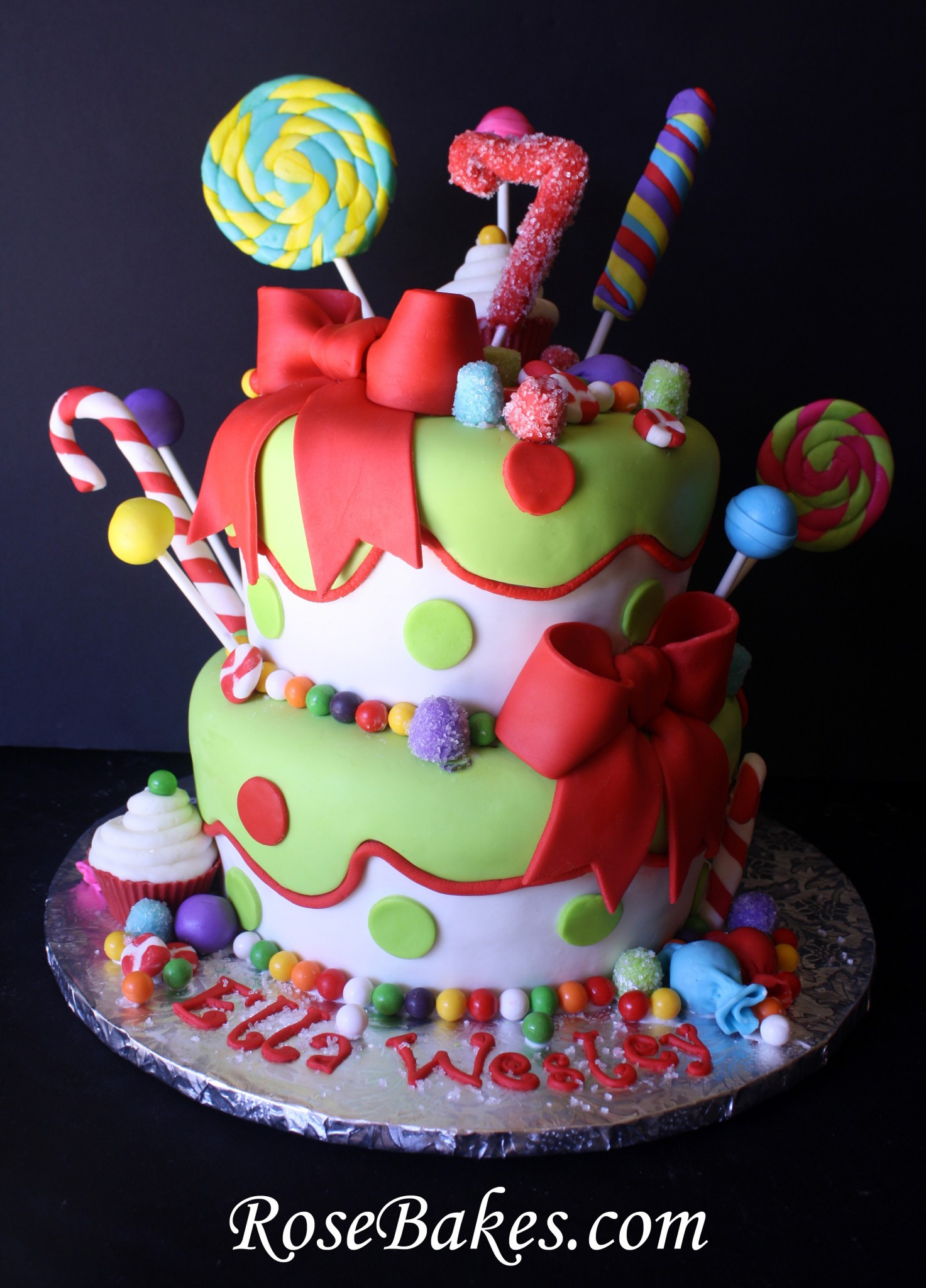 Best ideas about Birthday Cake Gum . Save or Pin Holly Jolly Christmas Candy Birthday Cake Now.