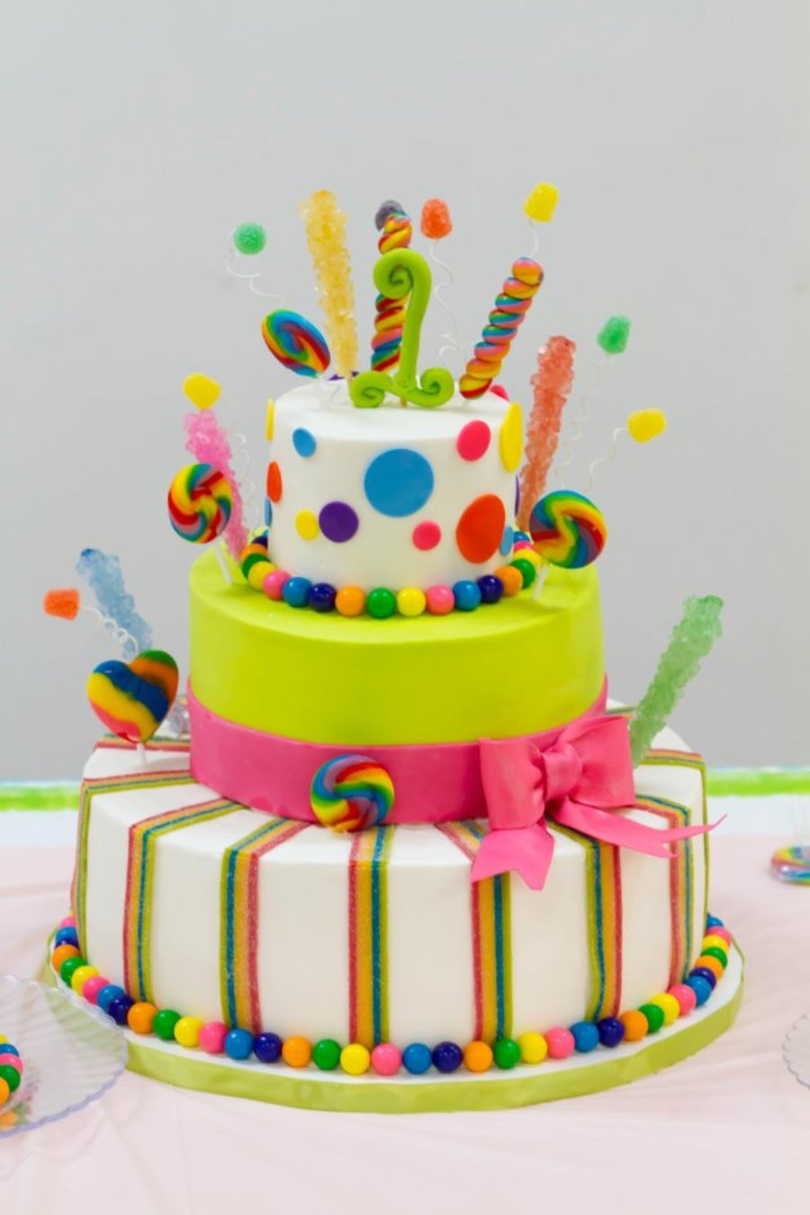 Best ideas about Birthday Cake Gum . Save or Pin Candyland Celebration CakeCentral Now.