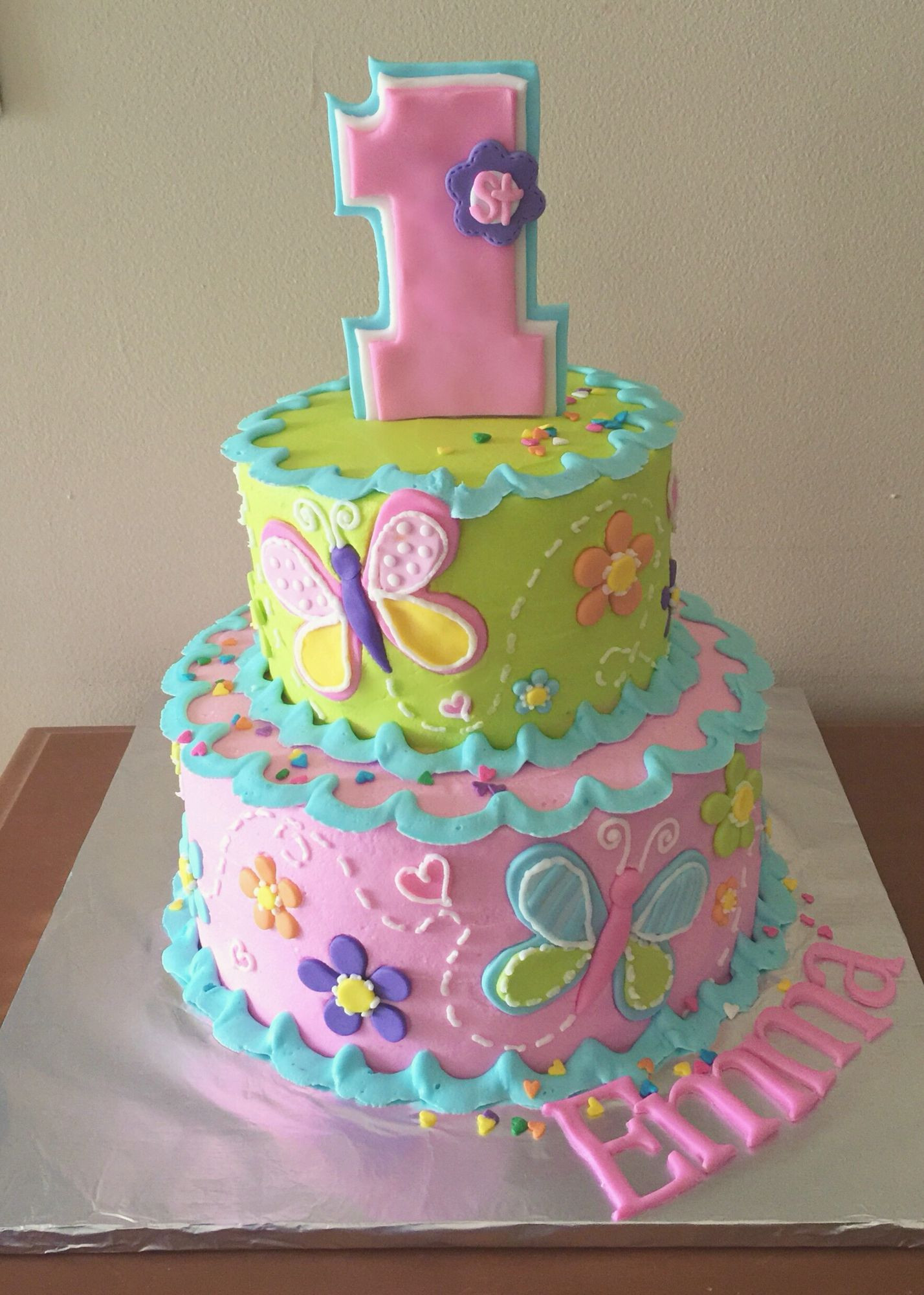 Best ideas about Birthday Cake Ideas For Girls . Save or Pin 1st birthday cake for a girl My Own Cakes Now.