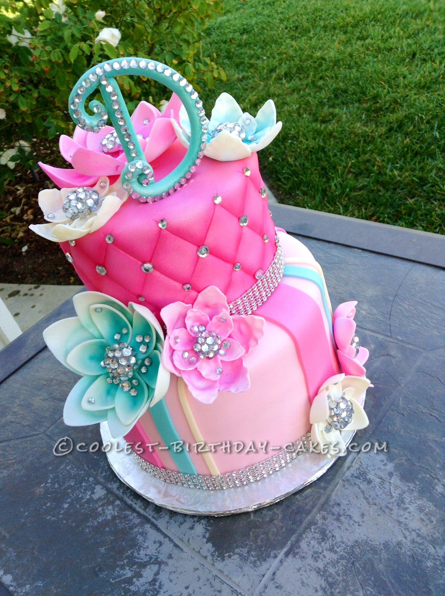 Best ideas about Birthday Cake Ideas For Girls . Save or Pin Delicious Homemade Beautiful Birthday Cake With Bling in Now.
