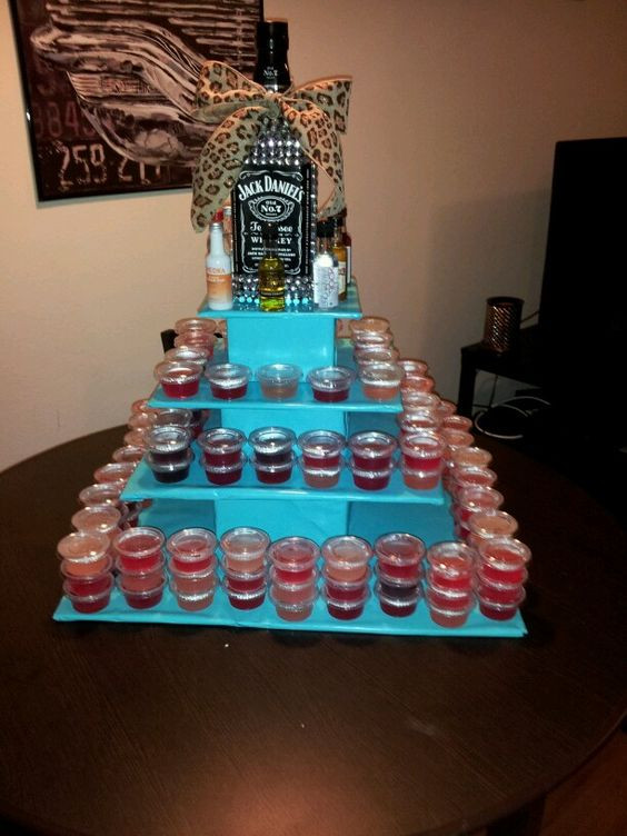 Best ideas about Birthday Cake Jello Shots . Save or Pin 21st birthday jello shot cake Craft ideas Now.