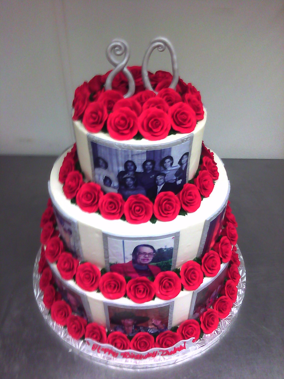 Best ideas about Birthday Cake Photo . Save or Pin Rosey 80th Birthday Cake Now.