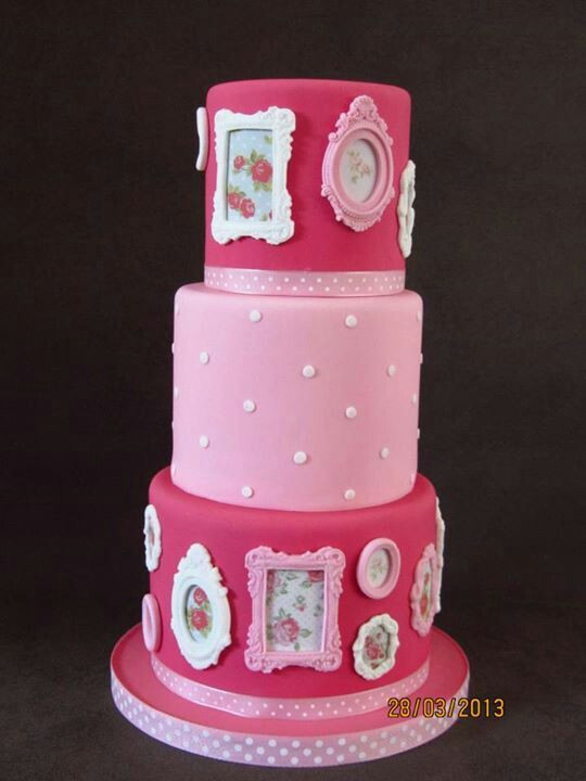Best ideas about Birthday Cake Photo Frame . Save or Pin Picture Frame Cake Fondant Cake Ideas Now.