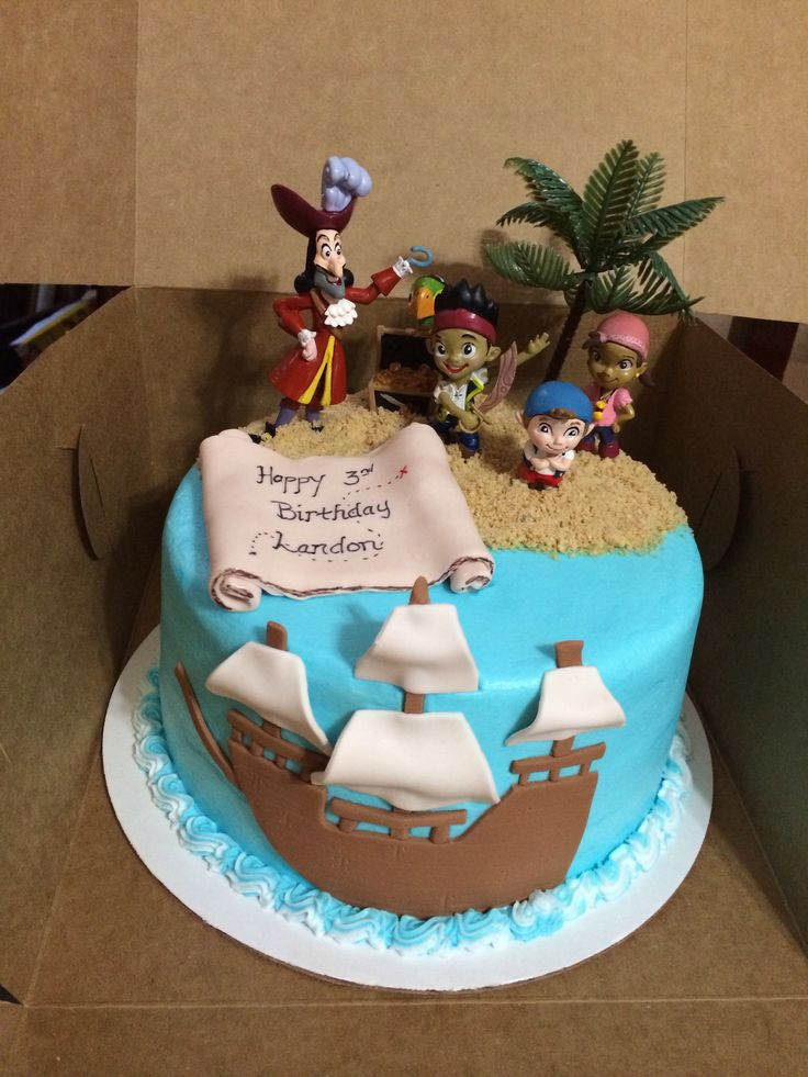 Best ideas about Birthday Cake Photo . Save or Pin Landon s Birthday Cake Jake and the Neverland Pirates Now.