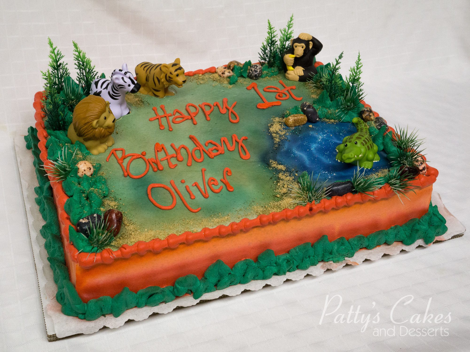 Best ideas about Birthday Cake Photo . Save or Pin of a zoo themed birthday cake Patty s Cakes and Now.