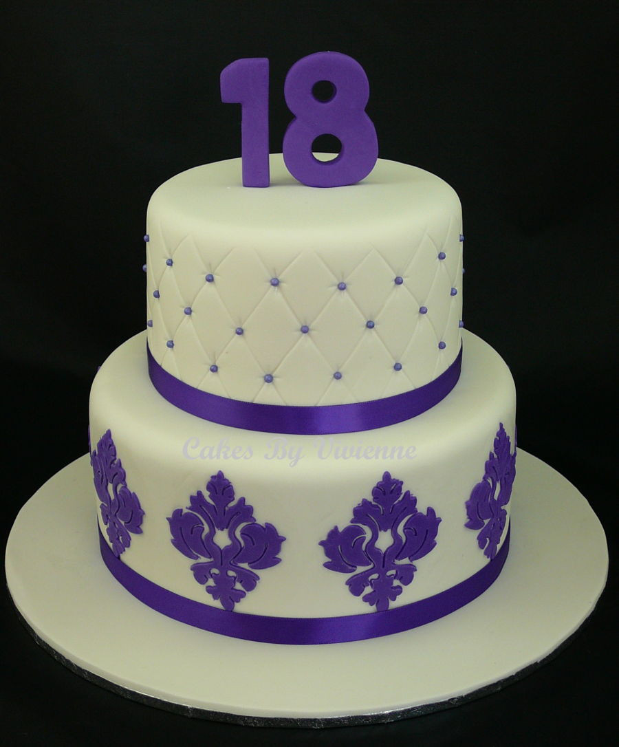 Best ideas about Birthday Cake Photo . Save or Pin Damask And Quilted Birthday Cake CakeCentral Now.