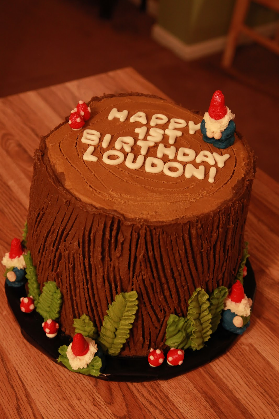 Best ideas about Birthday Cake Pics . Save or Pin the cake box girls Woodland gnome birthday cake Now.