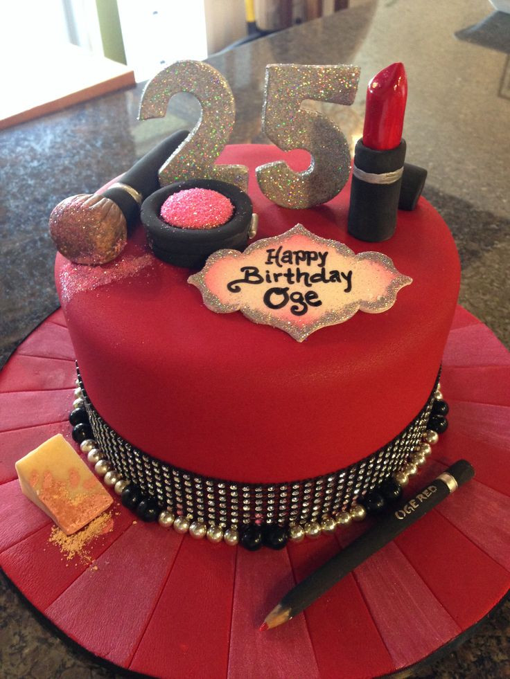 Best ideas about Birthday Cake Pics . Save or Pin Make Up & beauty themed birthday cake CakeStar Now.