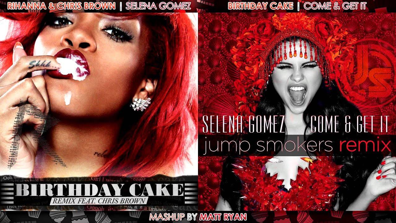 Best ideas about Birthday Cake Rihanna . Save or Pin Rihanna Vs Selena Gomez Birthday Cake feat Chris Brown Now.