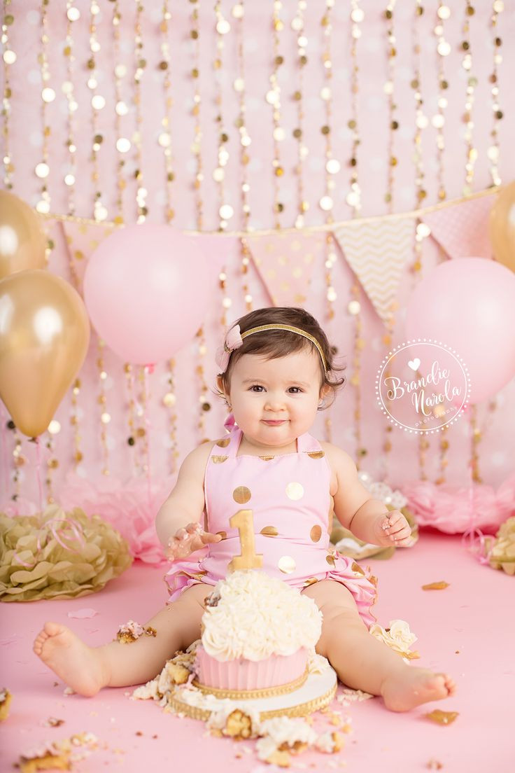 Best ideas about Birthday Cake Smash . Save or Pin 1st birthday photos Pink and gold 1st birthday First Now.