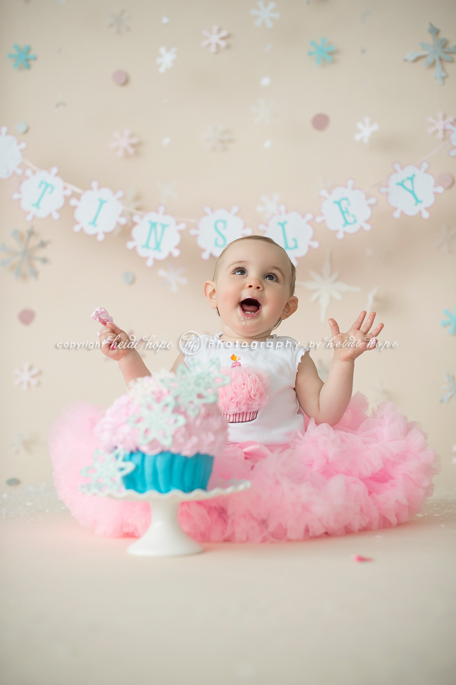 Best ideas about Birthday Cake Smash . Save or Pin A winter wonderland cake smash with first birthday girl T Now.